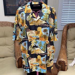 Tommy Bahama Resort Hawaiian Style Shirt L